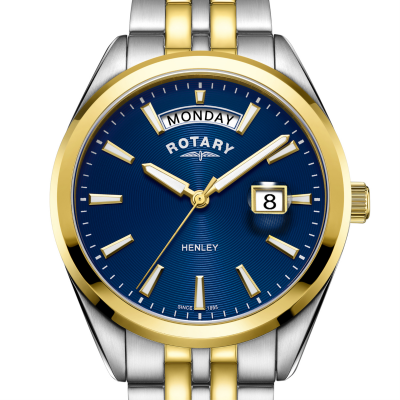Rotary | Mens Henley | Blue Dial | Two Tone Bracelet | GB05291/05
