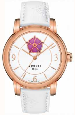 Tissot Womens Heart Flower Powermatic 80 White Leather Strap T0502073701705
