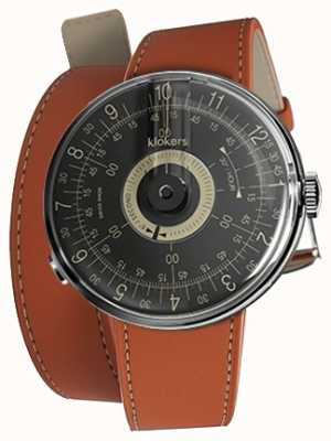 Klokers KLOK 08 Black Dial Orange 420mm Double Strap KLOK-08-D3+KLINK-02-420C8