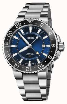 Oris Ex Display Men's | GMT Date | Blue Dial | Stainless Steel 01 798 7754 4135-07 8 24 05PEB-EX-DISPLAY