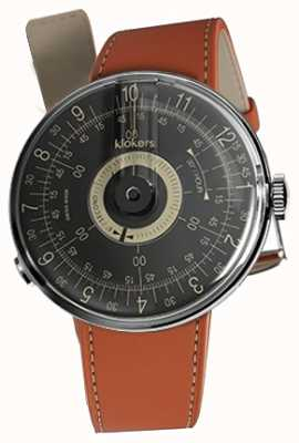 Klokers KLOK 08 Black Dial Orange Alcantara Single Strap KLOK-08-D3+KLINK-01-MC5