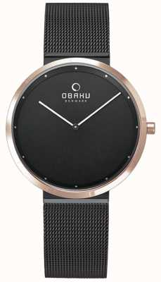 Obaku | Womens Papir Lillie Night | Black Mesh | Black Dial | V230LXMBMB