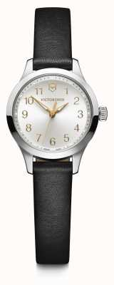Victorinox Swiss Army | Womens Alliance XS | Silver Dial | Black Leather Strap | 241838