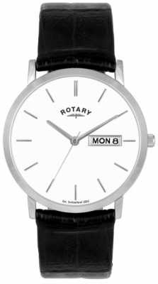 Rotary Mens Black Leather Strap Watch GSI02622/06/DD