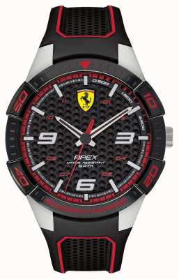 Scuderia Ferrari | Men's Apex | Black Rubber Strap | BlackRed Dial | 0830630