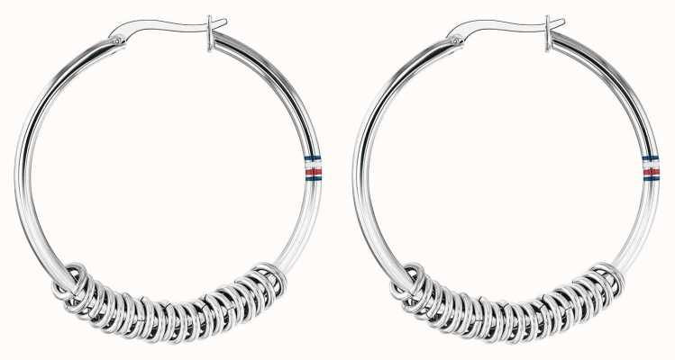 Tommy Hilfiger | Womens Stainless Steel Hoop Earrings | 2780214