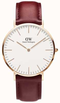 Daniel Wellington | Mens Classic Suffolk Rose Gold 40mm | DW00100120