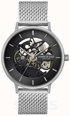 Kenneth Cole | Mens Automatic | Steel Mesh Bracelet | Black Dial | KC50780005