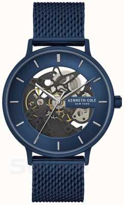 Kenneth Cole | Mens Automatic | Blue Mesh Strap | Blue Dial | KC50780003