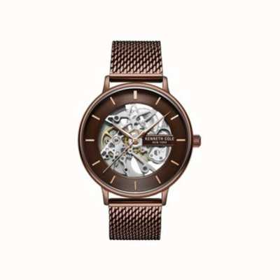 Kenneth Cole | Mens | Automatic | Brown Mesh Strap | Brown Dial | KC50780004