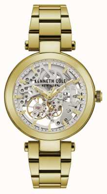 Kenneth Cole | Womens Automatic | Yellow/Gold Bracelet | Silver Dial | KC50799003