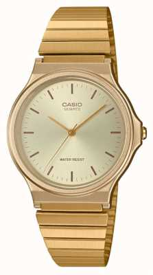 Casio   Vintage Round Watch   Expandable Bracelet   Gold Dial   MQ-24G-9EEF
