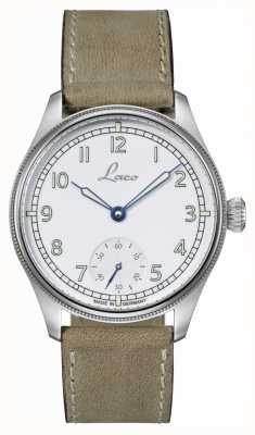 Laco | Cuxhaven | Automatic Navy Watch | White Dial | Leather 862104