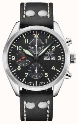 Laco | Monte Carlo | Automatic Chronograph | Black Calf Leather | 861815