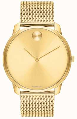 Movado Men's Gold PVD Plated Mesh Gold Dial 3600588