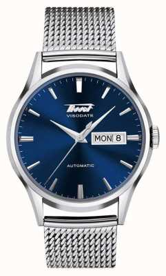 Tissot | Mens Heritage Visodate | Stainless Steel Mesh | Blue Dial T0194301104100