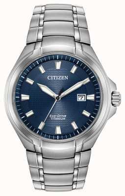 Citizen Men's Titanium Eco-Drive Blue Dial Water Resistant 100m BM7431-51L