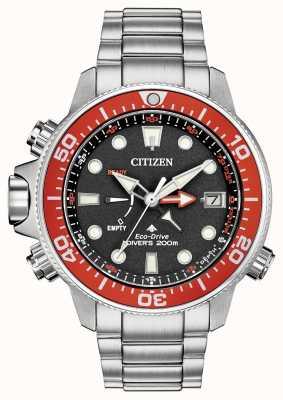 Citizen Men's Eco-Drive Promaster Stainless Steel Red Bezel BN2039-59E