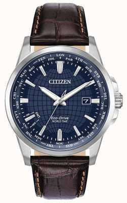 Citizen Eco-Drive World Time Perpetual Calendar Blue Dial BX1000-06L