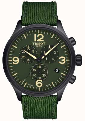 Tissot | Mens Chrono XL | Green Fabric Strap | Green Dial | T1166173709700