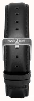 Weird Ape Black Leather 16mm Strap Silver Buckle ST01-000045