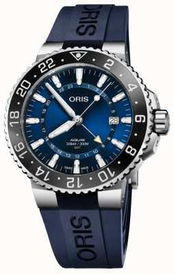 Oris | Aquis GMT Date | Blue Rubber Strap | Blue Dial | 01 798 7754 4135-07 4 24 65EB