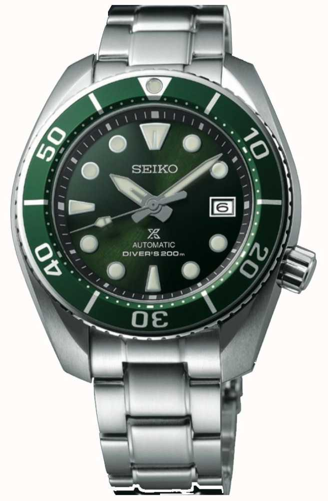 d5c7e1b99 Seiko Prospex Diver Sumo Green Mens Stainless Steel SPB103J1 - First ...