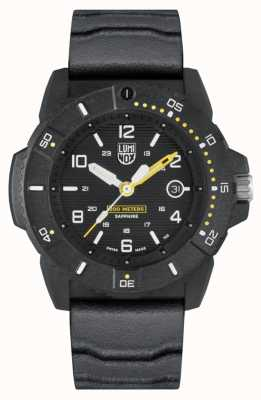 Luminox Mens Navy Seal 3600 Series | Black Rubber Strap | Black Dial XS.3601