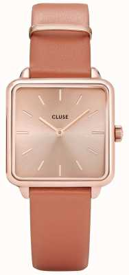 CLUSE Ladies La Garconne Watch Rose Gold With Brown Leather CL60010