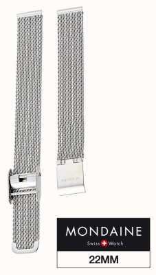 Mondaine | Mesh Watch Bracelet Strap Only | Stainless Steel | 22mm | FM8922.STEM.1