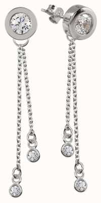 Radley Jewellery Silver Stud Long Multi Drop Earrings RYJ1059