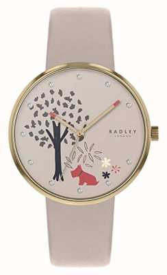 Radley | Womens Nude Leather Strap | Tree And Dog Motif Dial | RY2786