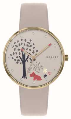 Radley | Epping Forest | Tree And Dog Motif Dial | Nude Leather | RY2786