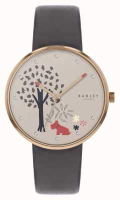 Radley | Epping Forest | Tree And Dog Motif Dial | Grey Leather | RY2788