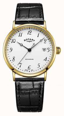 Rotary Mens buckingham 9ct. Gold Watch GS11476/18