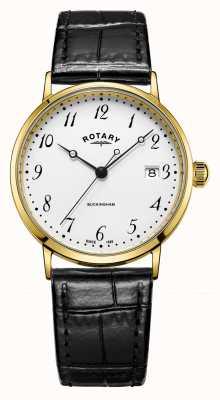 Rotary Men's 9ct Gold Case Buckingham Watch GS11476/18