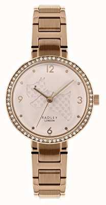 Radley | Womens Rose Gold Steel Bracelet | Cut Out Dog Dial | RY4394