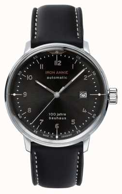 Junkers | Iron Annie | Bauhaus | Automatic | Black Leather Strap | 5056-2