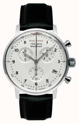 Junkers Iron Annie | Bauhaus | Chrono | White Dial | Black Leather 5096-1