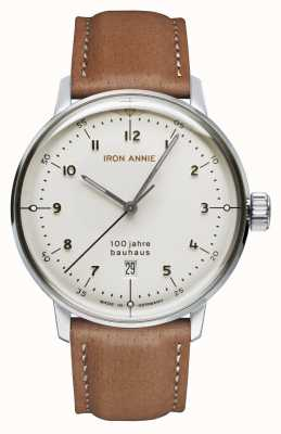 Junkers Iron Annie | Bauhaus | White Dial | Brown Leather Strap 5046-1