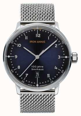 Iron Annie Bauhaus | Blue Dial | Stainless Steel Mesh 5046M-3