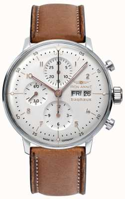 Junkers Iron Annie | Bauhaus | Automatic | Chronograph | White Dial 5018-4
