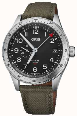 Oris | Big Crown ProPilot Timer GMT | Black Dial | Green Textile 01 748 7756 4064-07 3 22 02LC