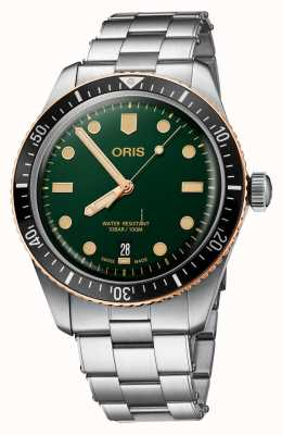 Oris Divers Sixty-Five Oceanic Green Stainless Steel 01 733 7707 4357-07 8 20 18