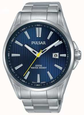 Pulsar | Mens Stainless Steel Bracelet | Blue Dial | PS9603X1
