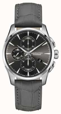 Hamilton | Mens Jazzmaster | Grey Alligator Embossed Leather Strap | Grey Dial H32586881