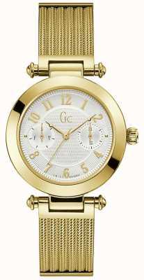 Gc | Womens PrimeChic | Gold Mesh Bracelet | White Dial | Y48003L7MF