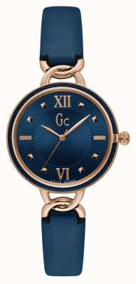 Gc | Womens CableTwist | Blue Leather Strap | Blue Dial | Y49003L7MF