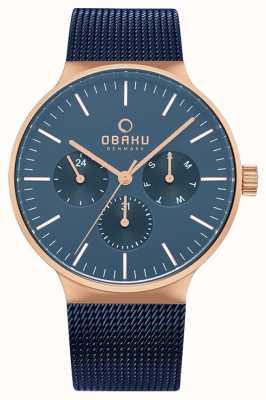 Obaku | Mens Mos Ocean | Blue Mesh | Blue Chronograph Dial | V229GMVLML