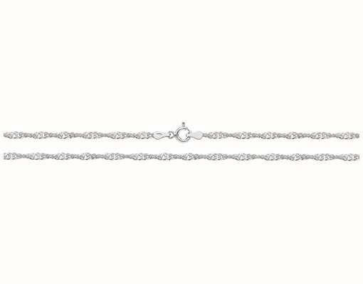 """James Moore TH Silver Singapore Chain 16"""" G1104/16"""